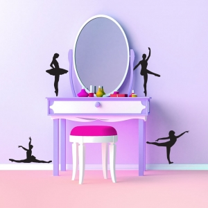 Adesivo de Parede Bailarinas