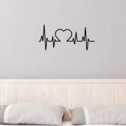 Adesivo de Parede Batimento Coração
