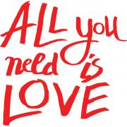 Adesivo de Parede Beatles Love is All You Need