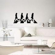 Adesivo de Parede Beatles Preto e Branco