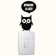 Adesivo de Parede Corujinha Apague a Luz