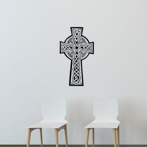 Adesivo de Parede Crucifixo Celta