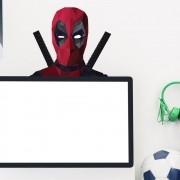 Adesivo de Parede Deadpool Face