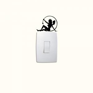 Adesivo de Parede Diabinha do Interruptor