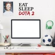 Adesivo de Parede Eat Sleep Dota 2