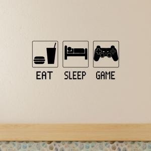 Adesivo de Parede Eat , Sleep  , Game