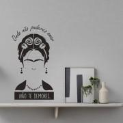 Adesivo de Parede Frida Kahlo Onde Não Puderes Amar