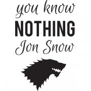Adesivo de Parede Game of Thrones Jon Snow