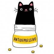 Adesivo de Parede Gatinho Antidepressivo