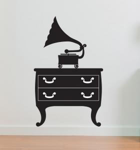 Adesivo de Parede Gramophone