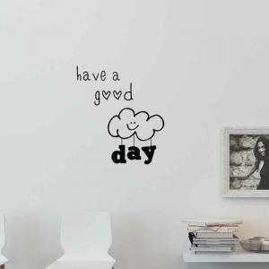 Adesivo de Parede Have a Good Day Nuvem
