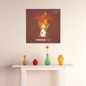 Adesivo de Parede I Choose Fire