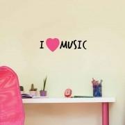 Adesivo de Parede I Love Music