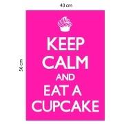 Adesivo de Parede Keep Calm And Eat a Cupcake