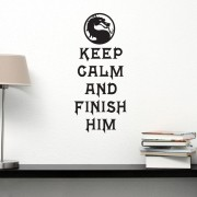 Adesivo de Parede Keep Calm And Finish Him
