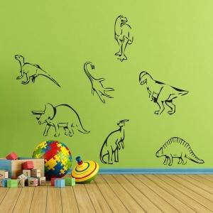 Adesivo de Parede Kit Dinossauros