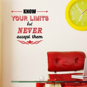 Adesivo de Parede Know Your Limits But Never
