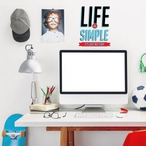 Adesivo de Parede Life is Simple