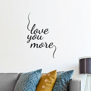 Adesivo de Parede Love You More