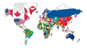 - Adesivo De Parede Mapa Do Mundo E Suas Bandeiras 140x80cm
