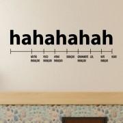 Adesivo de Parede Medidor Hahahaha