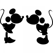 Adesivo de Parede Mickey e Minnie