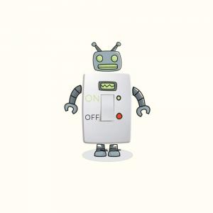 Adesivo de Parede Moderno Robô Interruptor