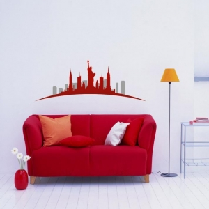 Adesivo de Parede New York Vermelha