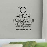 Adesivo de Parede O Amor Acrescenta Uma Precioso