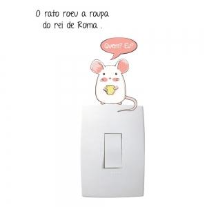 Adesivo de Parede O Rato Roeu Interruptor