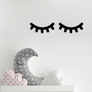 Adesivo de Parede Olhos Cílios dormindo