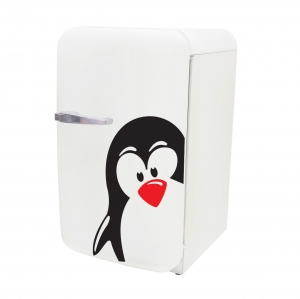 Adesivo de Parede para Frigobar Pinguim Gelado