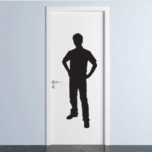 Adesivo de Parede Porta do Banheiro Masculino
