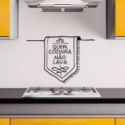 Adesivo De Parede Quem Cozinha