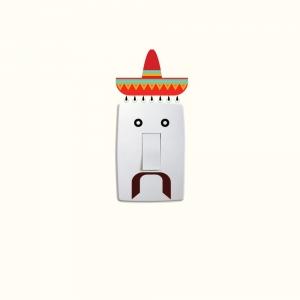 Adesivo de Parede Rosto Mexicano Interruptor