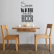 Adesivo de Parede Save Water Drink Beer