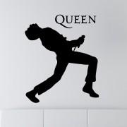Adesivo de Parede Silhueta Freddie Mercury