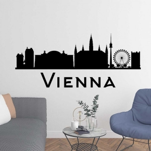 Adesivo de Parede Skyline Vienna