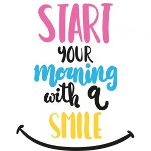 Adesivo de Parede Start Your Morning
