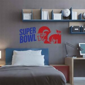 Adesivo de Parede Super Bowl