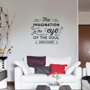 Adesivo de Parede The Imagination is The Eyes