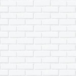 Adesivo de Parede Tijolinhos Brancos Sem Emenda