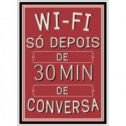 Adesivo de Parede Wi-Fi só Depois de 30 Min