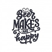 Adesivo Decorativo Beer Makes me happy
