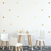 Adesivo Decorativo Bolas Douradas (Kit 280 unidades 2x2 cm)
