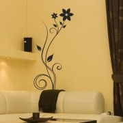 Adesivo Floral Swirl Flower