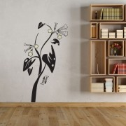Adesivo Floral Trombeta