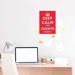 Adesivo Keep Calm and Oxente Mainha