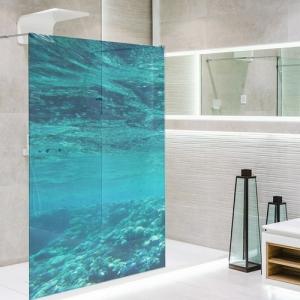 Adesivo Para Box De Banheiro 3d Largura Total Até 120cm