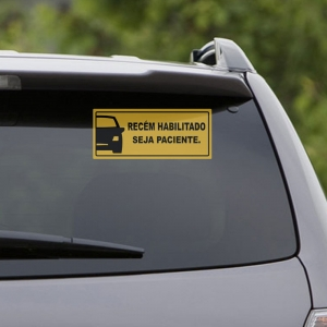 Adesivo para Carro Novo Habilitado